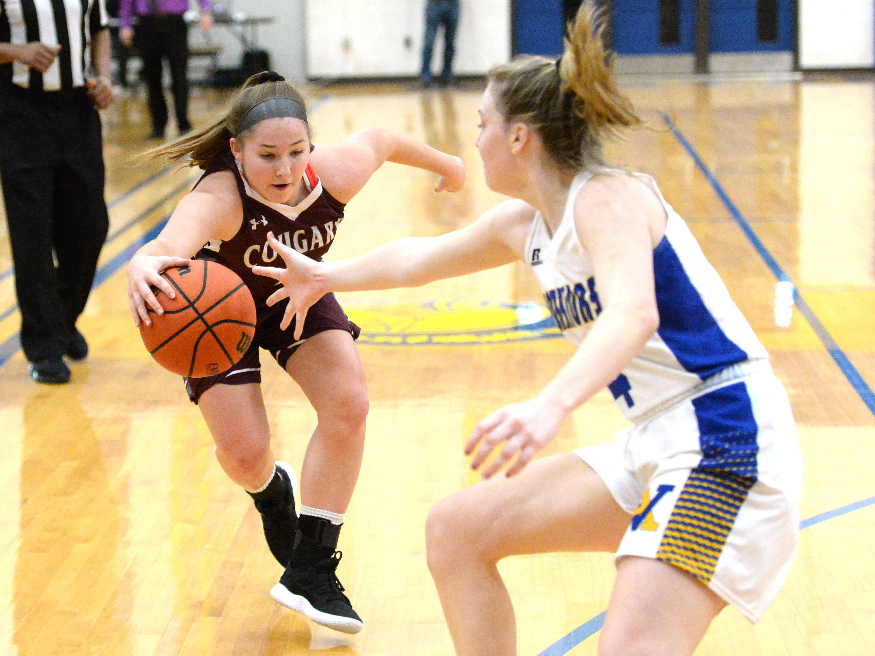 Stuarts Draft's Maggie Sorrells works to control the ball Saturday at the Play for Preemies Showcase at Western Albemarle High School.
