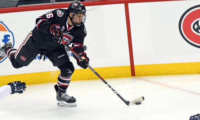 St. Cloud State's Will Hammer, a freshman from St. Cloud Cathedral, saw his first ice time for the Huskies on Saturday. SCSU beat Robert Morris, 5-2 in Pittsburgh.