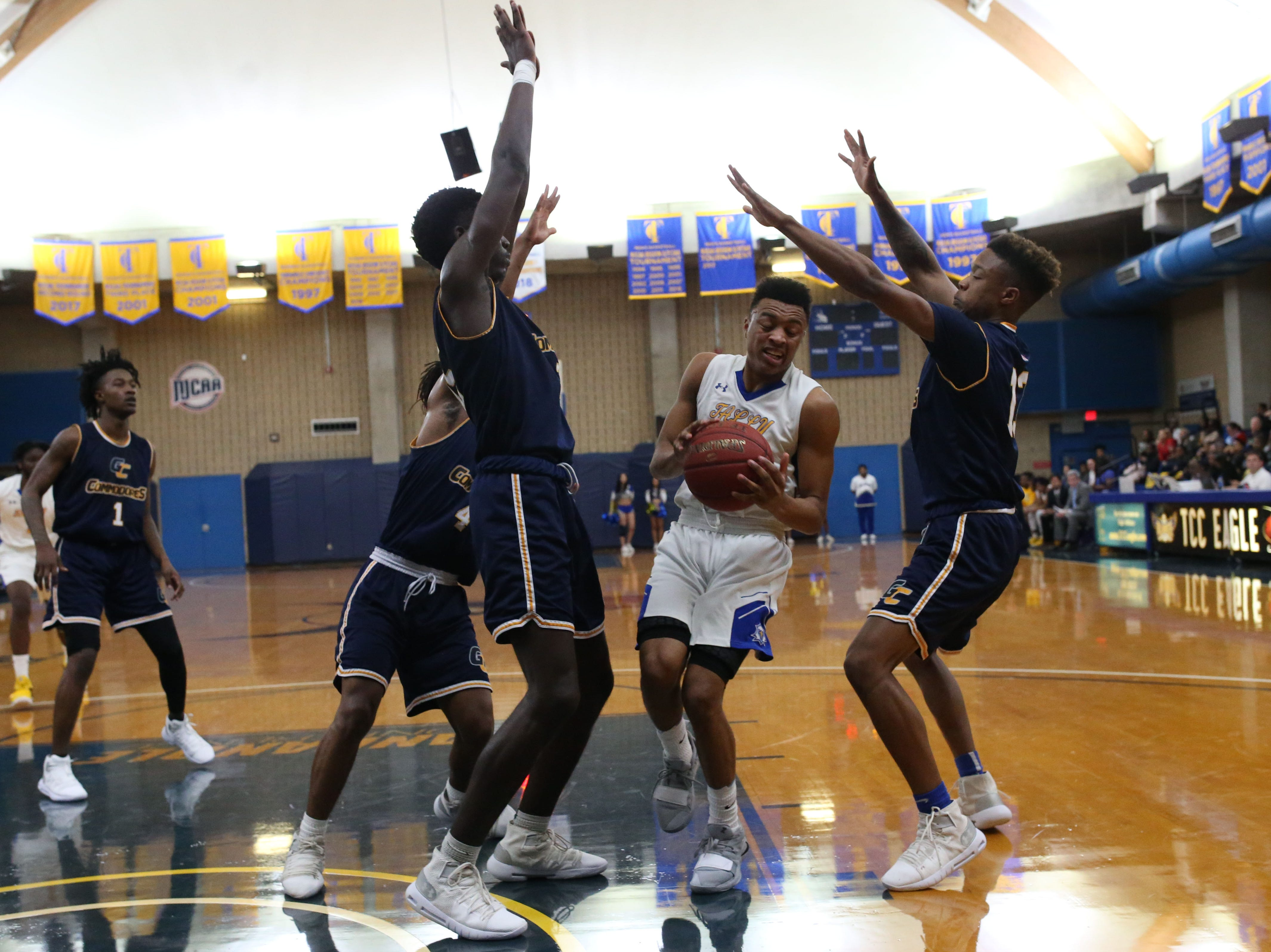 The Tallahassee Community College Eagles host the Gulf Coast State College Commodores in a conference match-up in the Eagledome, Saturday, Jan. 5, 2019.