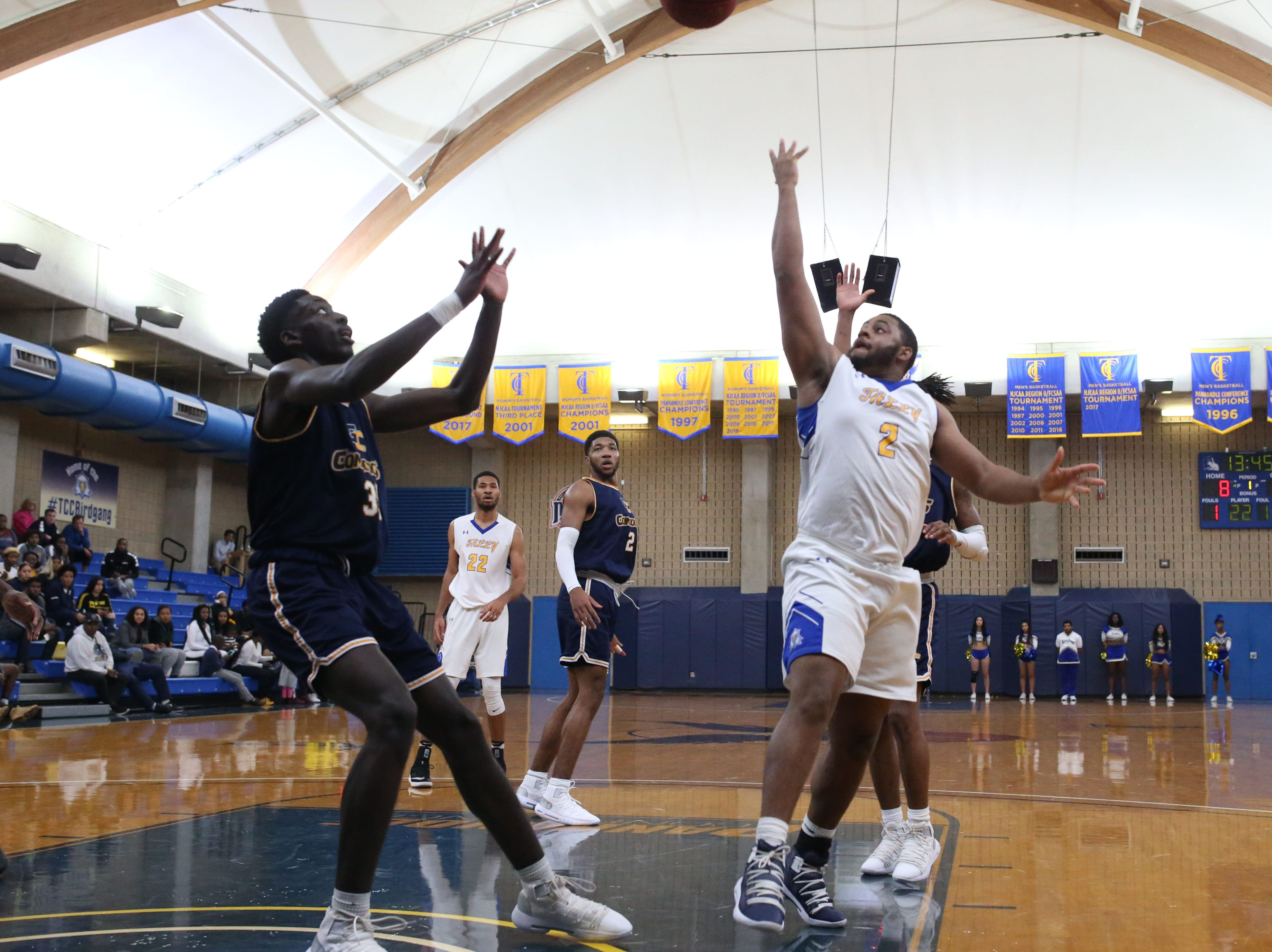 Tallahassee Community College Eagles guard Stephon Franklin (2) shoots from inside the paint. The Tallahassee Community College Eagles host the Gulf Coast State College Commodores in a conference match-up in the Eagledome, Saturday, Jan. 5, 2019.