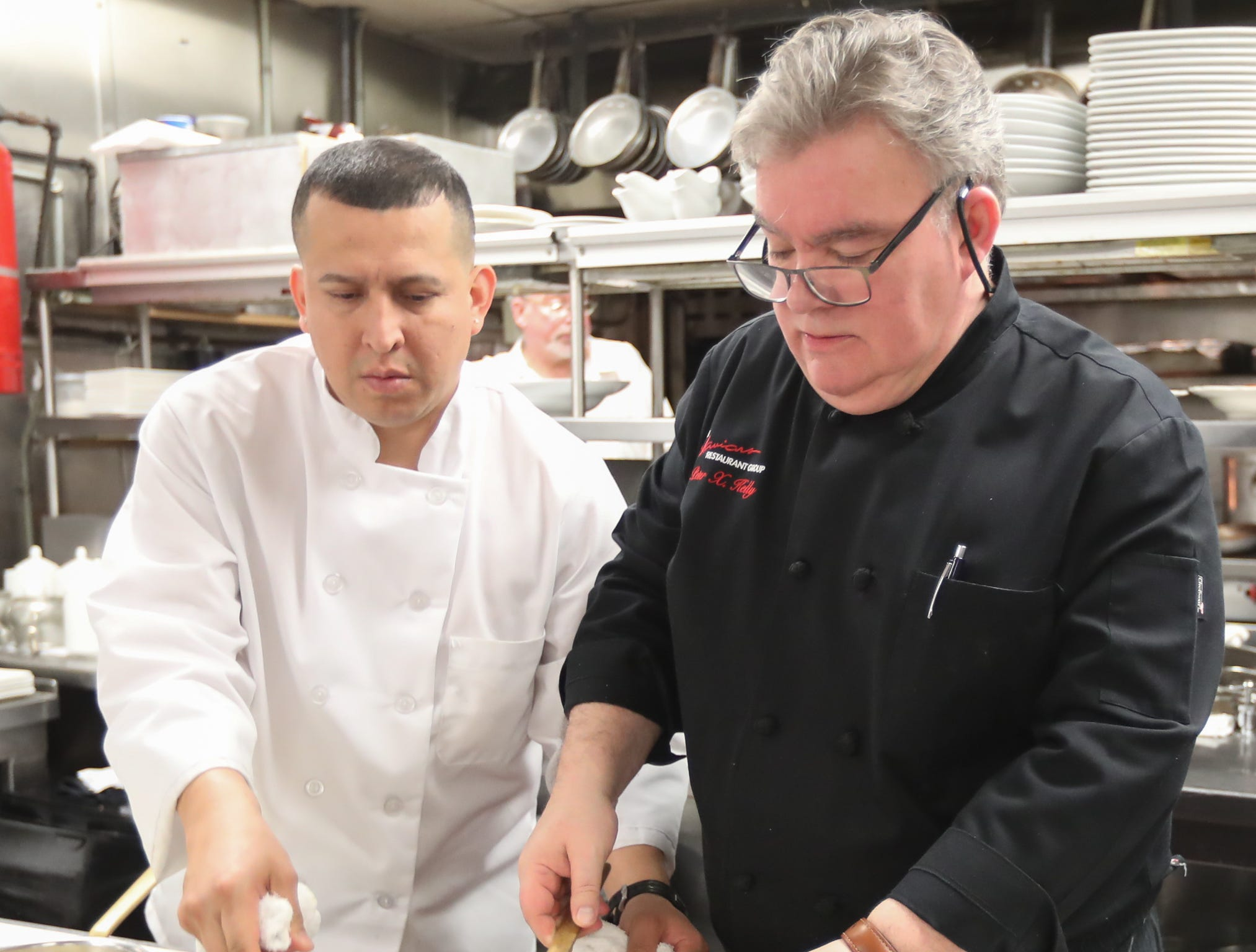 Chef Peter Kelly prepares Tortellini with Pecans and Prosciutto to be served at Sunday brunch at Restaurant X in Congers on Sunday, January 6, 2019.