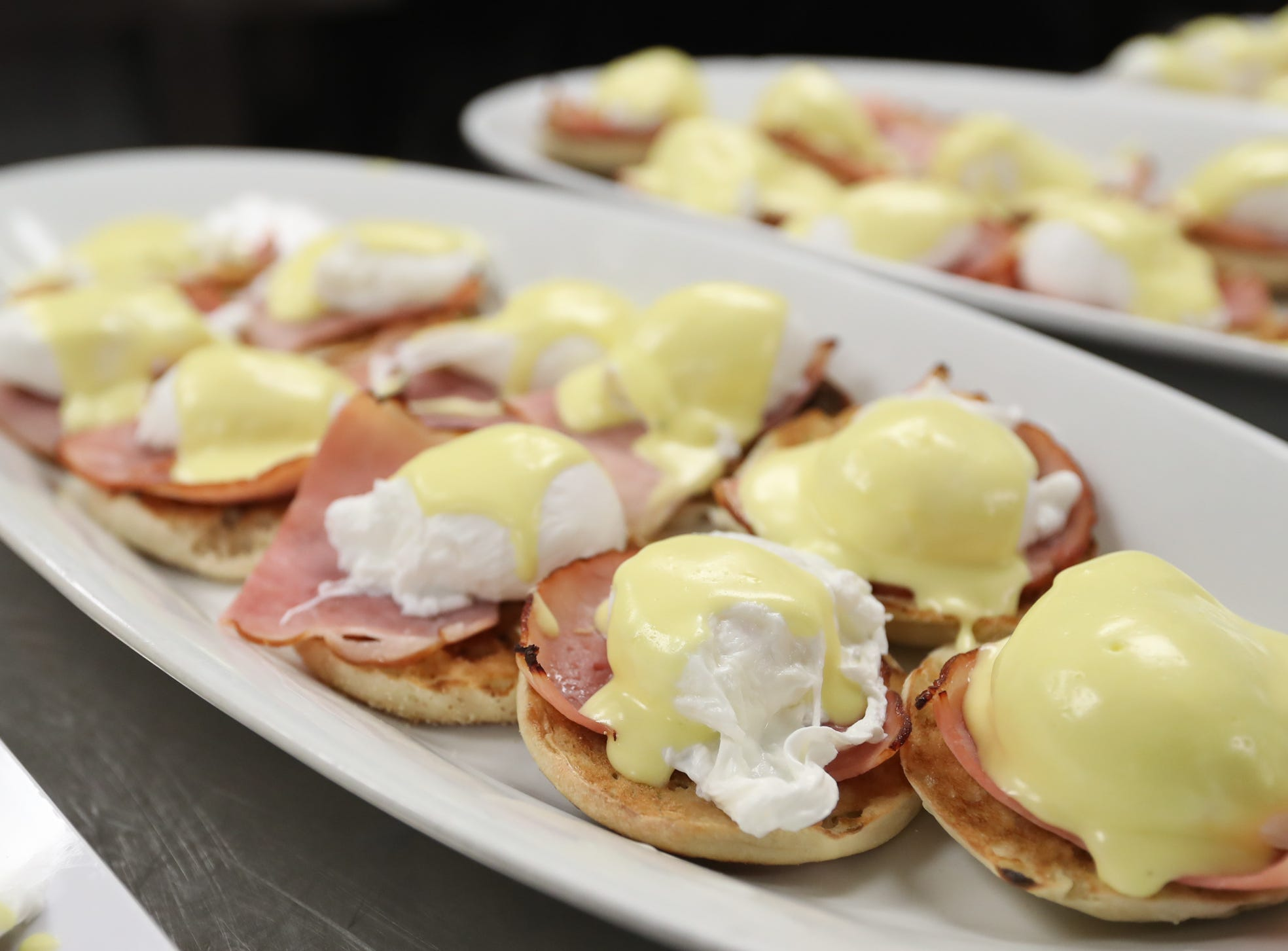 Eggs Benedict served at Sunday brunch at Restaurant X in Congers on Sunday, January 6, 2019.