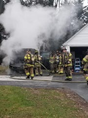 A Milltown family's truck exploded after catching fire Sunday morning.