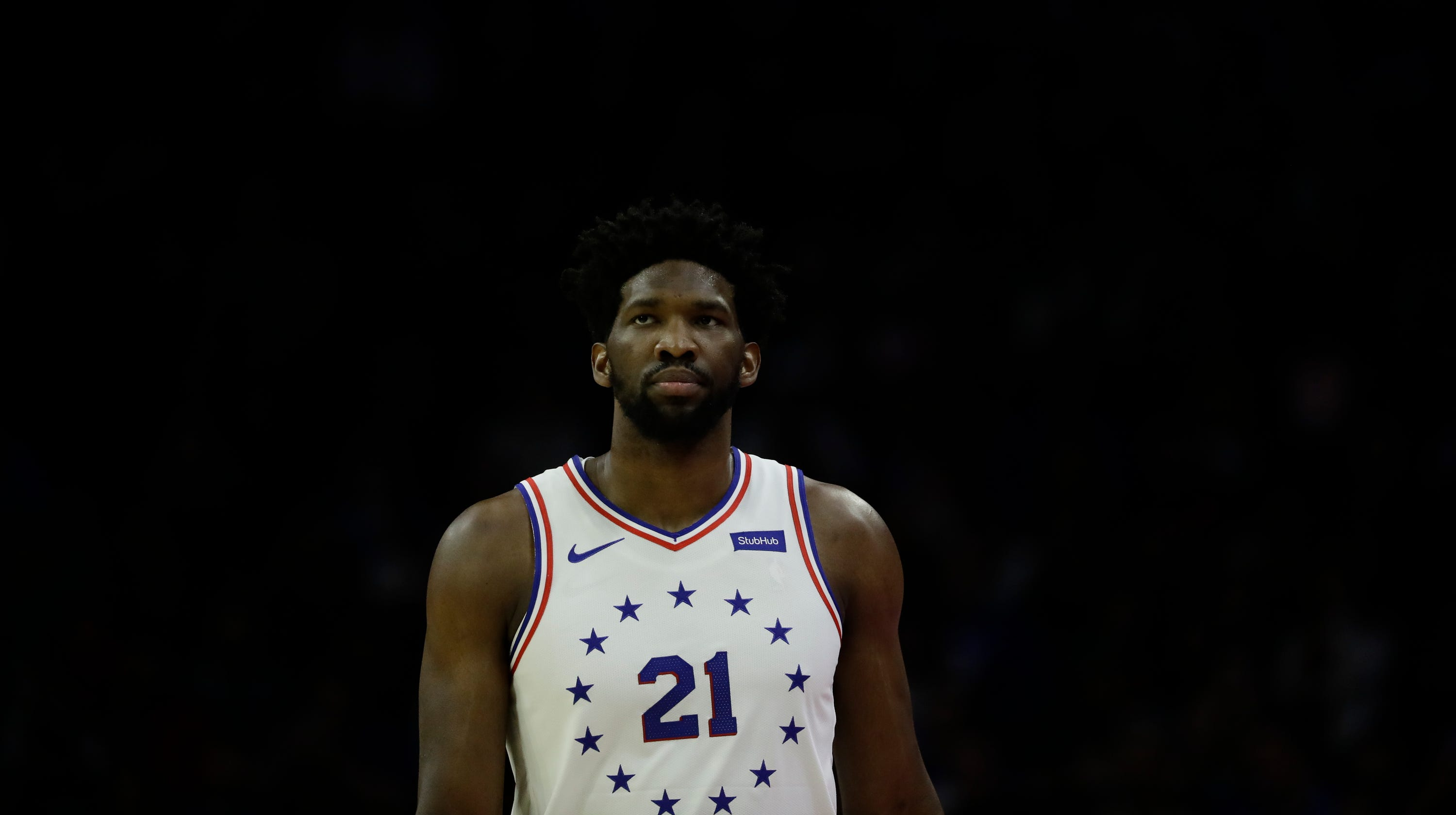 9cf37704a 76ers All-Star Embiid out a week with sore left knee