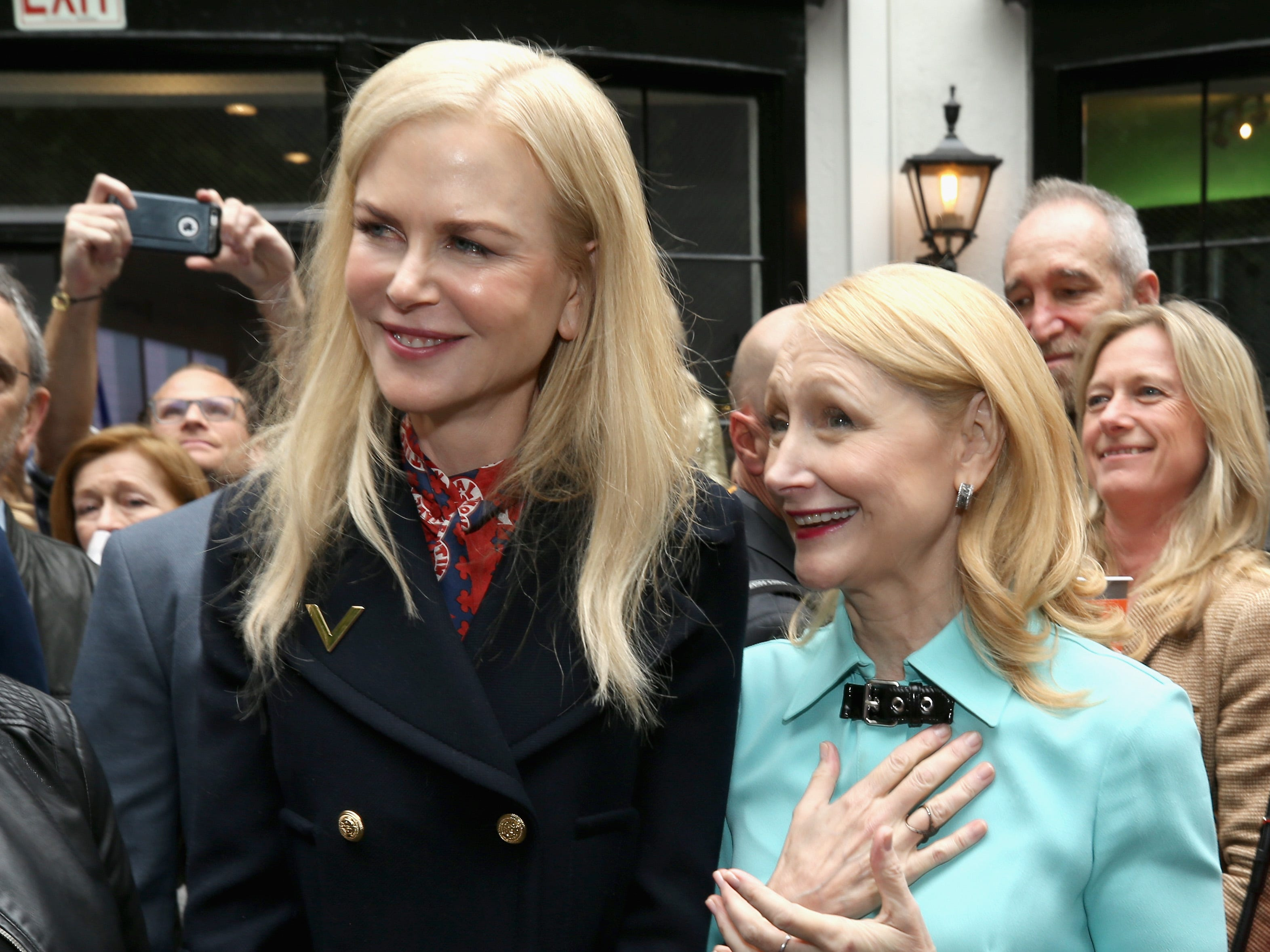 """WEST HOLLYWOOD, CA - JANUARY 05:  Nicole Kidman (L) and Patricia Clarkson attend The 6th Annual """"Gold Meets Golden"""" Brunch, hosted by Nicole Kidman and Nadia Comaneci and presented by Coca-Cola at The House on Sunset on January 5, 2019 in West Hollywood, California.  (Photo by Phillip Faraone/Getty Images for Gold Meets Golden) ORG XMIT: 775276799 ORIG FILE ID: 1077928780"""