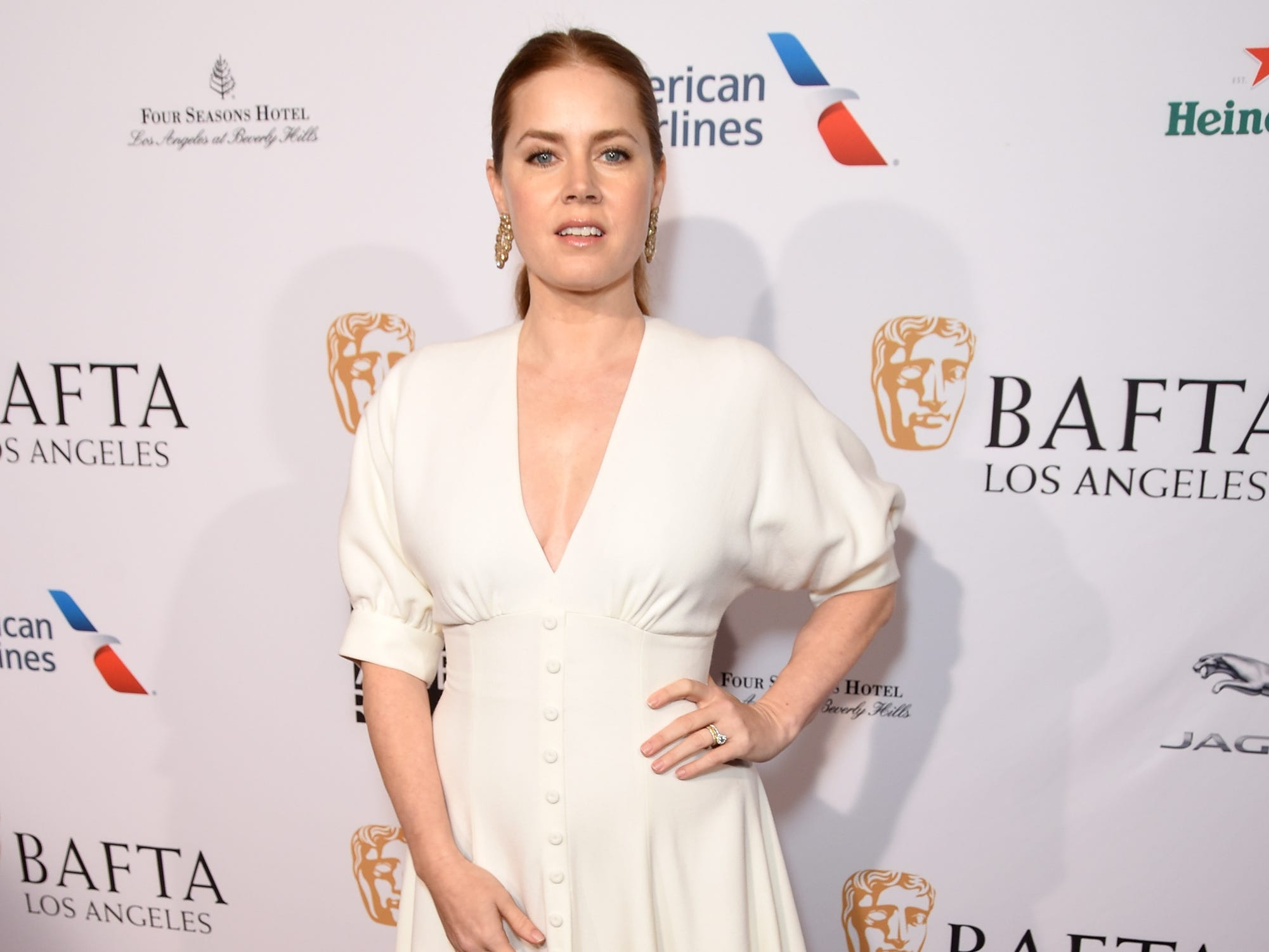 BEVERLY HILLS, CA - JANUARY 05:  Amy Adams attends the BBCA BAFTA Tea Party at Four Seasons Hotel Los Angeles at Beverly Hills on January 5, 2019 in Los Angeles, California.  (Photo by Presley Ann/Getty Images for BBCAmerica) ORG XMIT: 775276722 ORIG FILE ID: 1077925100
