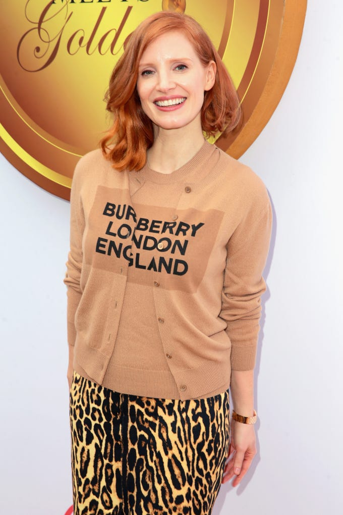BEVERLY HILLS, CA - JANUARY 05:  Jessica Chastain attends the 6th annual Gold Meets Golden party hosted by Nicole Kidman and Nadia Comaneci at The House on Sunset on January 5, 2019 in Beverly Hills, California.  (Photo by Rich Fury/Getty Images) ORG XMIT: 775275261 ORIG FILE ID: 1077881968