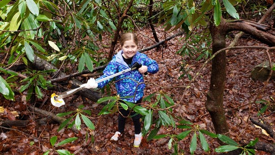 Erica Newland decided to help clean up Great Smoky Mountain National Park after hearing about the government shutdown.