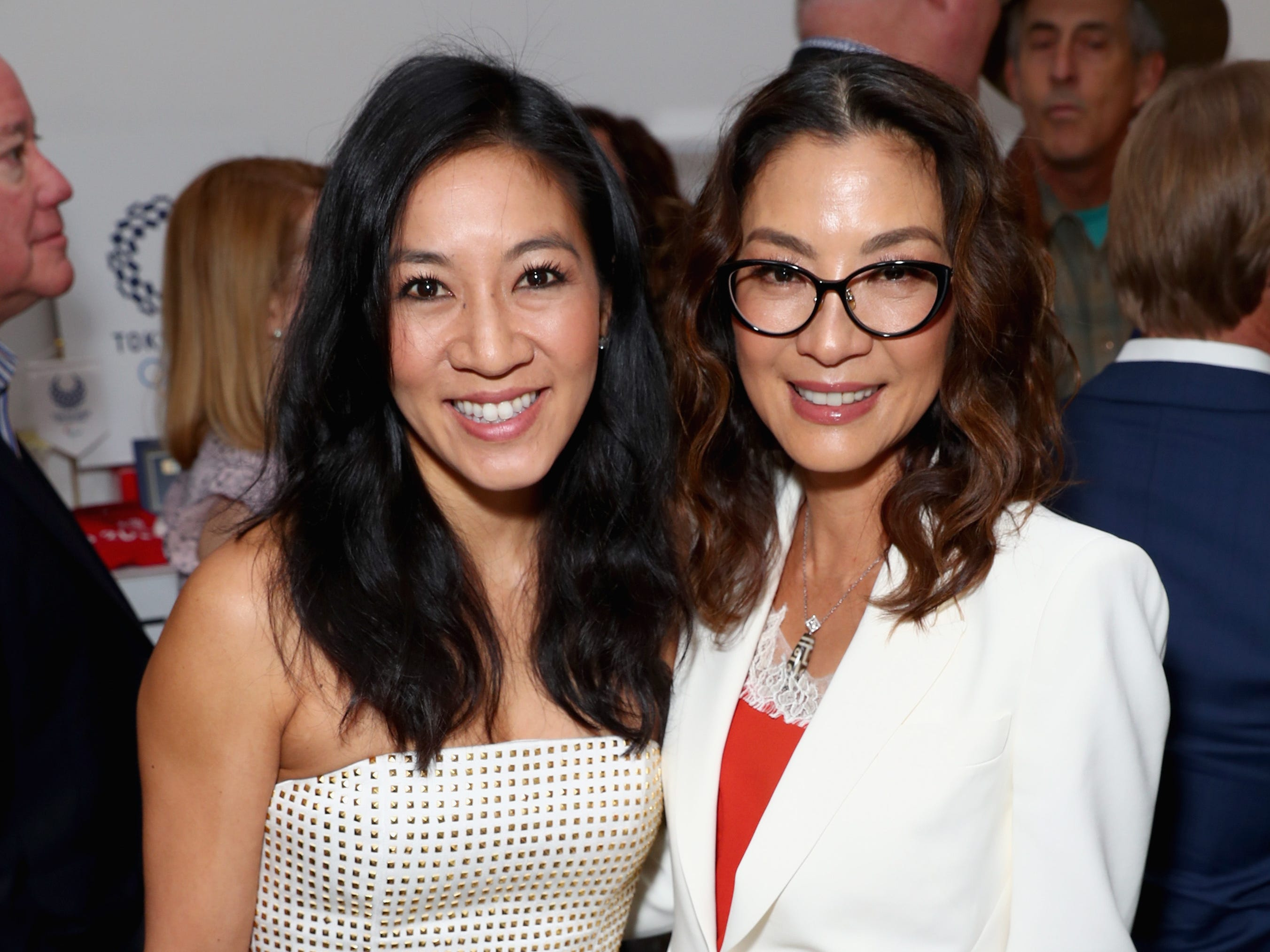 """WEST HOLLYWOOD, CA - JANUARY 05: Michelle Kwan (L) and Michelle Yeoh attend The 6th Annual """"Gold Meets Golden"""" Brunch, hosted by Nicole Kidman and Nadia Comaneci and presented by Coca-Cola at The House on Sunset on January 5, 2019 in West Hollywood, California.  (Photo by Joe Scarnici/Getty Images for Gold Meets Golden) ORG XMIT: 775276799 ORIG FILE ID: 1077928920"""