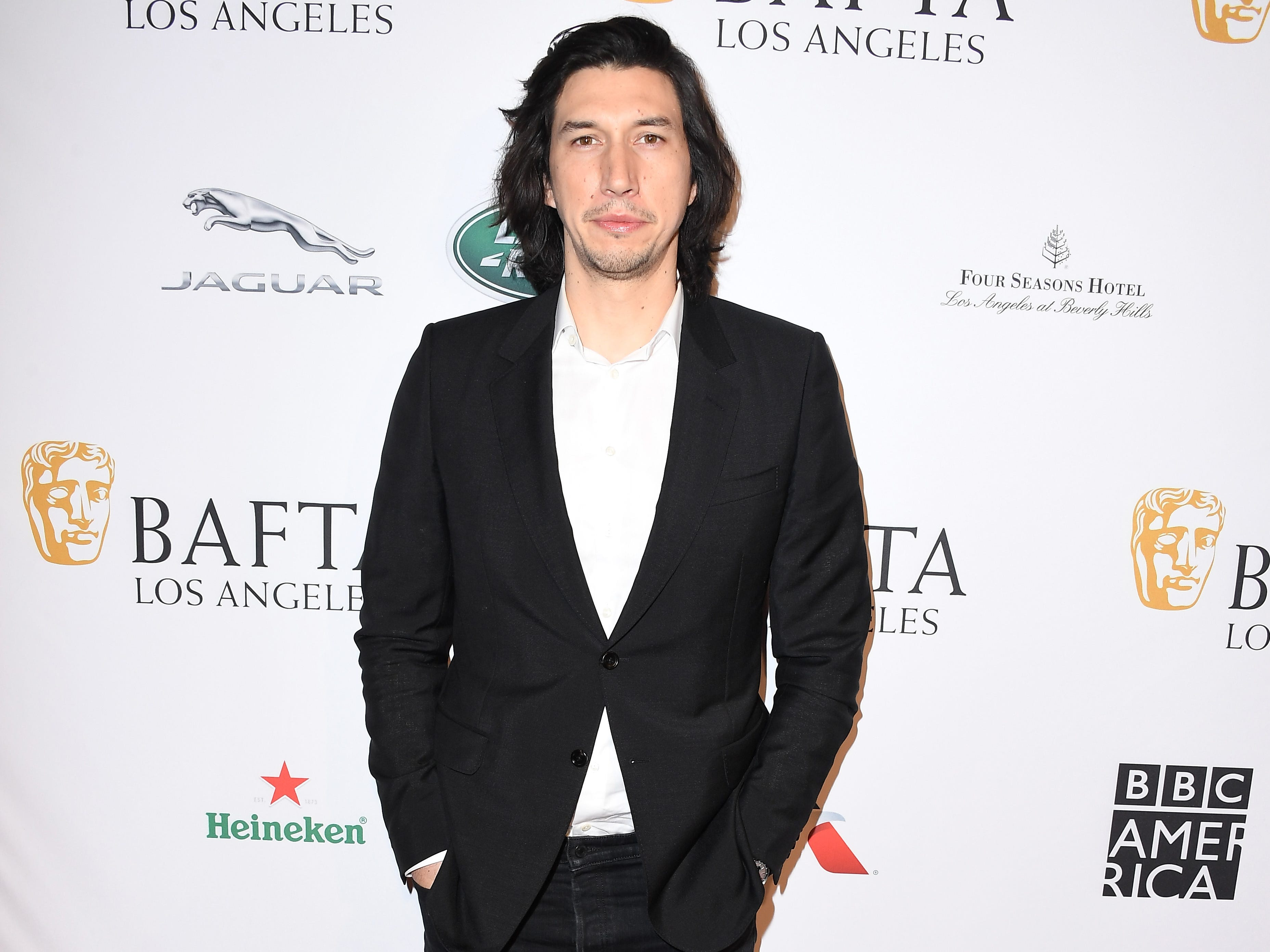 LOS ANGELES, CA - JANUARY 05:  Adam Driver attends The BAFTA Los Angeles Tea Party at Four Seasons Hotel Los Angeles at Beverly Hills on January 5, 2019 in Los Angeles, California.  (Photo by Steve Granitz/WireImage) ORG XMIT: 775261683 ORIG FILE ID: 1077929358