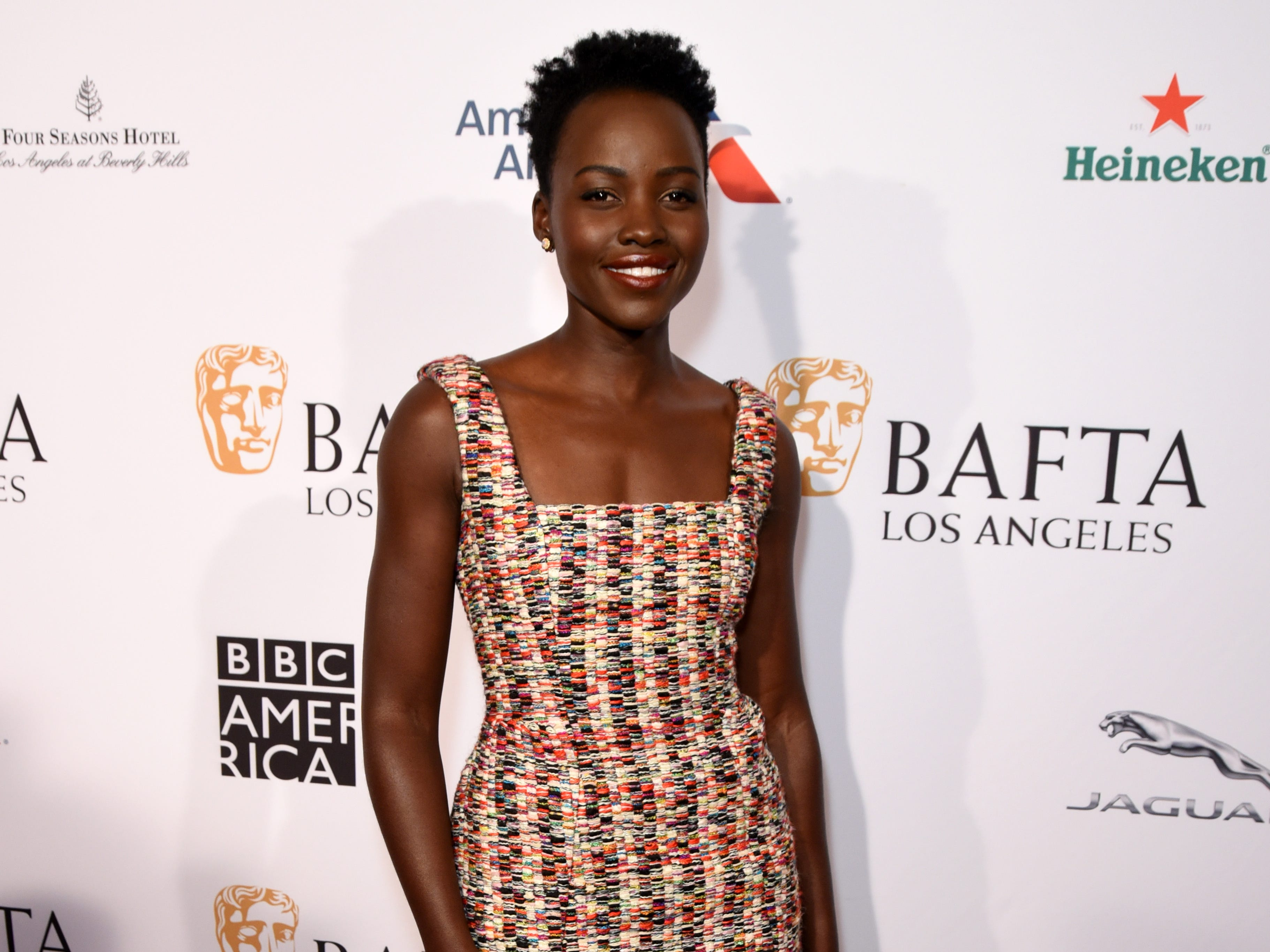 BEVERLY HILLS, CA - JANUARY 05:  Lupita Nyong'o attends The BAFTA Los Angeles Tea Party at Four Seasons Hotel Los Angeles at Beverly Hills on January 5, 2019 in Los Angeles, California.  (Photo by Presley Ann/Getty Images for BBCAmerica) ORG XMIT: 775276722 ORIG FILE ID: 1077930536
