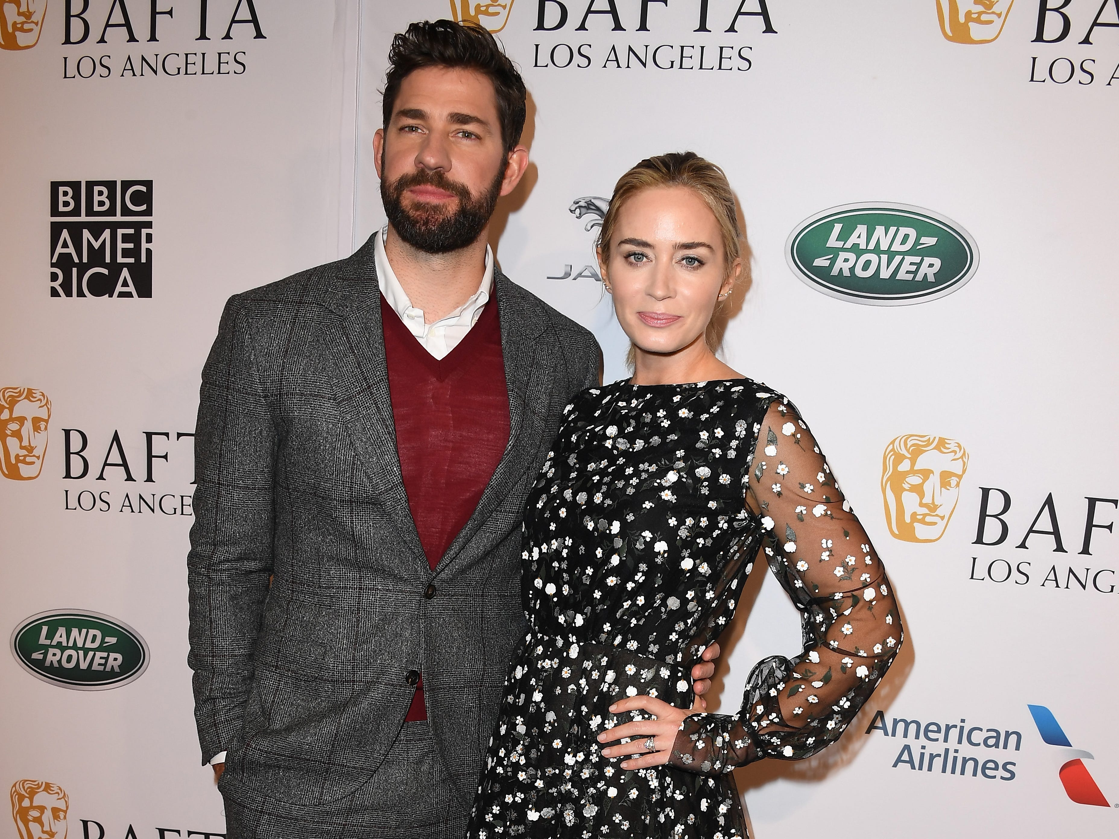 LOS ANGELES, CA - JANUARY 05:  John Krasinski and Emily Blunt attend The BAFTA Los Angeles Tea Party at Four Seasons Hotel Los Angeles at Beverly Hills on January 5, 2019 in Los Angeles, California.  (Photo by Steve Granitz/WireImage) ORG XMIT: 775261683 ORIG FILE ID: 1077924706