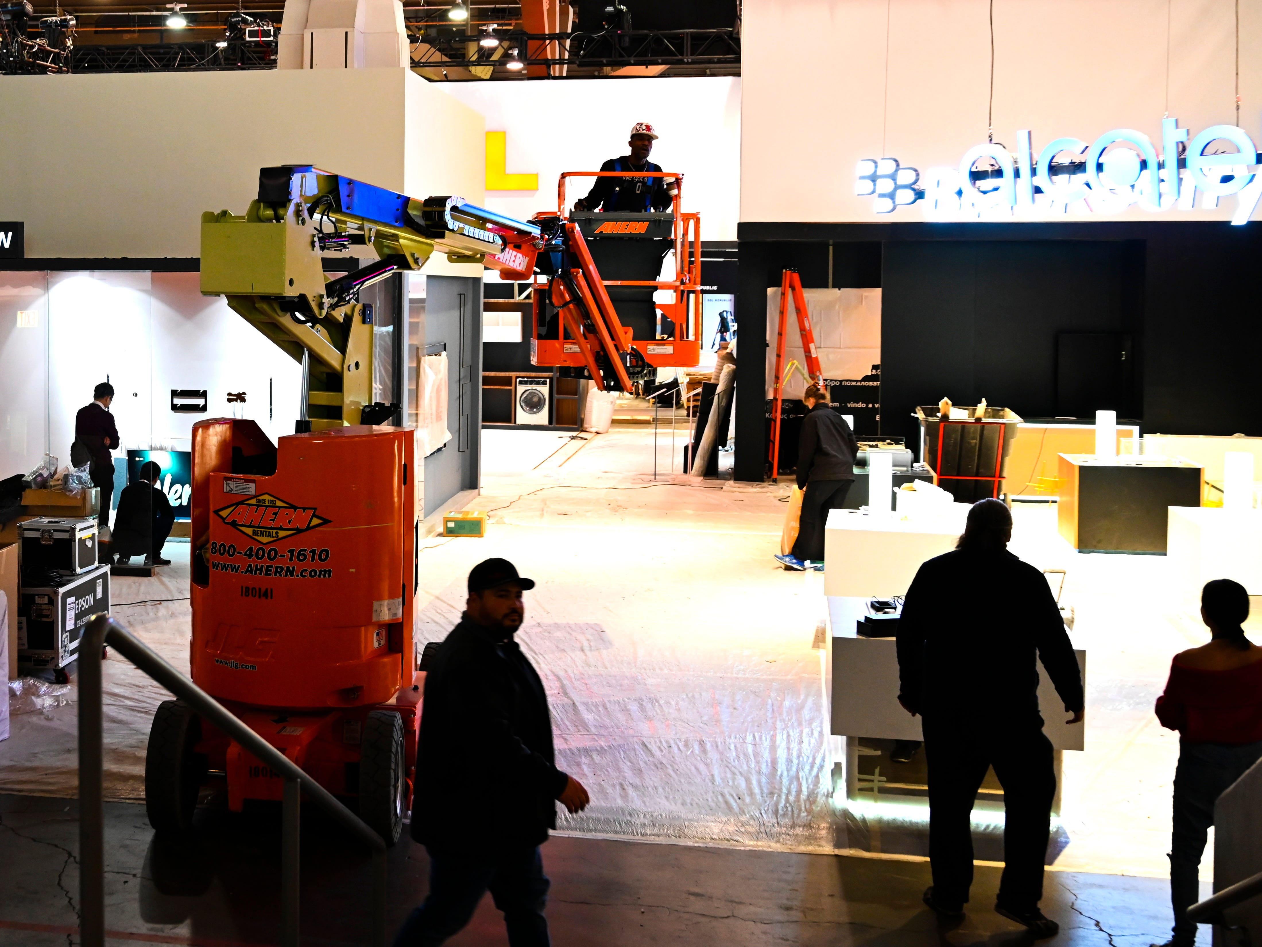 The Las Vegas Convention South Hall was a buzz of activity as work crews finished up construction of displays in preparation for Consumer Electronics Show 2019.
