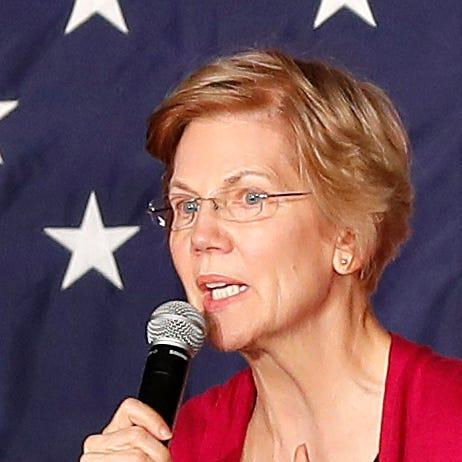 Sen. Elizabeth Warren on her first tour as a 2020 presidential prospect, Des Moines, Iowa, Jan. 5, 2019.