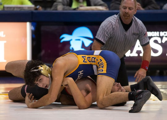 Toms River North, with Nick Boggiano (top) as one of its best wrestlers, made a major move in this week's Asbury Park Press Shore Conference Top 10 after its 32-28 win over Jackson Memorial.