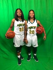 Sisters, Neptune natives and New Jersey City University basketball stars Miesha Bacon (left) and Marajiah Bacon (right).
