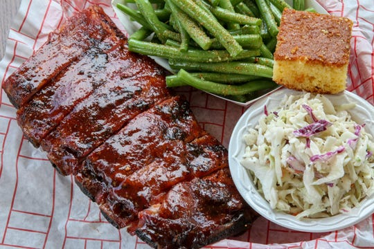 A rib platter from Local Smoke BBQ, which in May will open at Jax Garage in Seaside Heights.  The restaurant has locations in Neptune City, Red Bank and Cookstown.