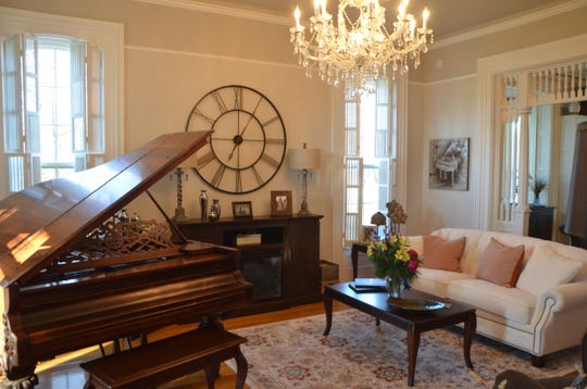 Villa on Verona's Bocelli room, with an antique Hazelton Brothers piano, is named after Italian singer Andrea Bocelli.