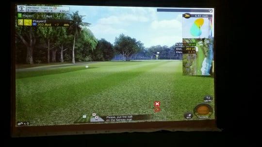 New golf simulator at Endwell Greens.