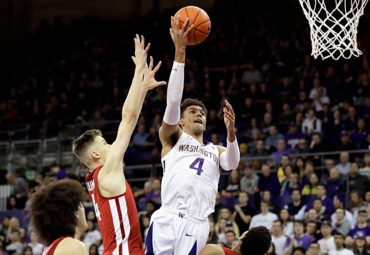 Washington guard Matisse Thybulle had 17 points, making three 3-pointers, in Saturday's win over Washington State.