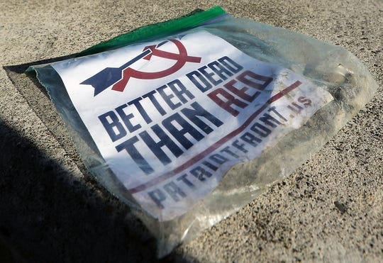 The pamphlets for a white supremacist group were placed in plastic bags, weighted down by stones, and tossed into yards in Bremerton's Union Hill neighborhood.