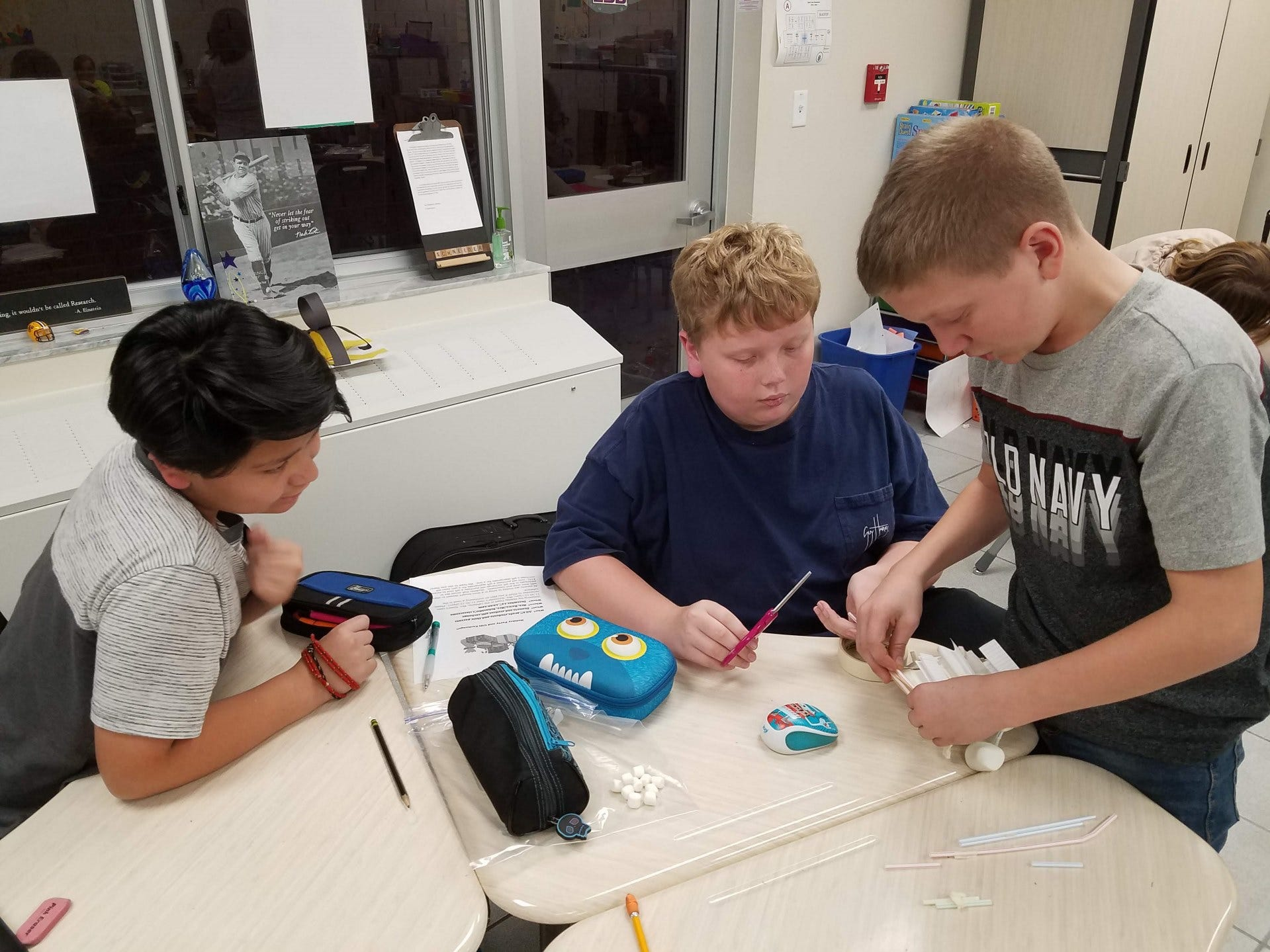 South Lake Elementary School students work together as part of the Destination Mars program. Students from 14 different schools will compete on Feb. 28 at the Brevard County School Disitrict office.