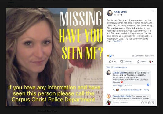 Missing Person Kacy Barton
