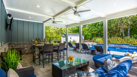 Open-air pavilions are a popular item in  outdoor living spaces, according to Michael Pasquarello of Elite Landscaping in Berlin. Elite will display a variety of outdoor-living products at the Philly Home Show.
