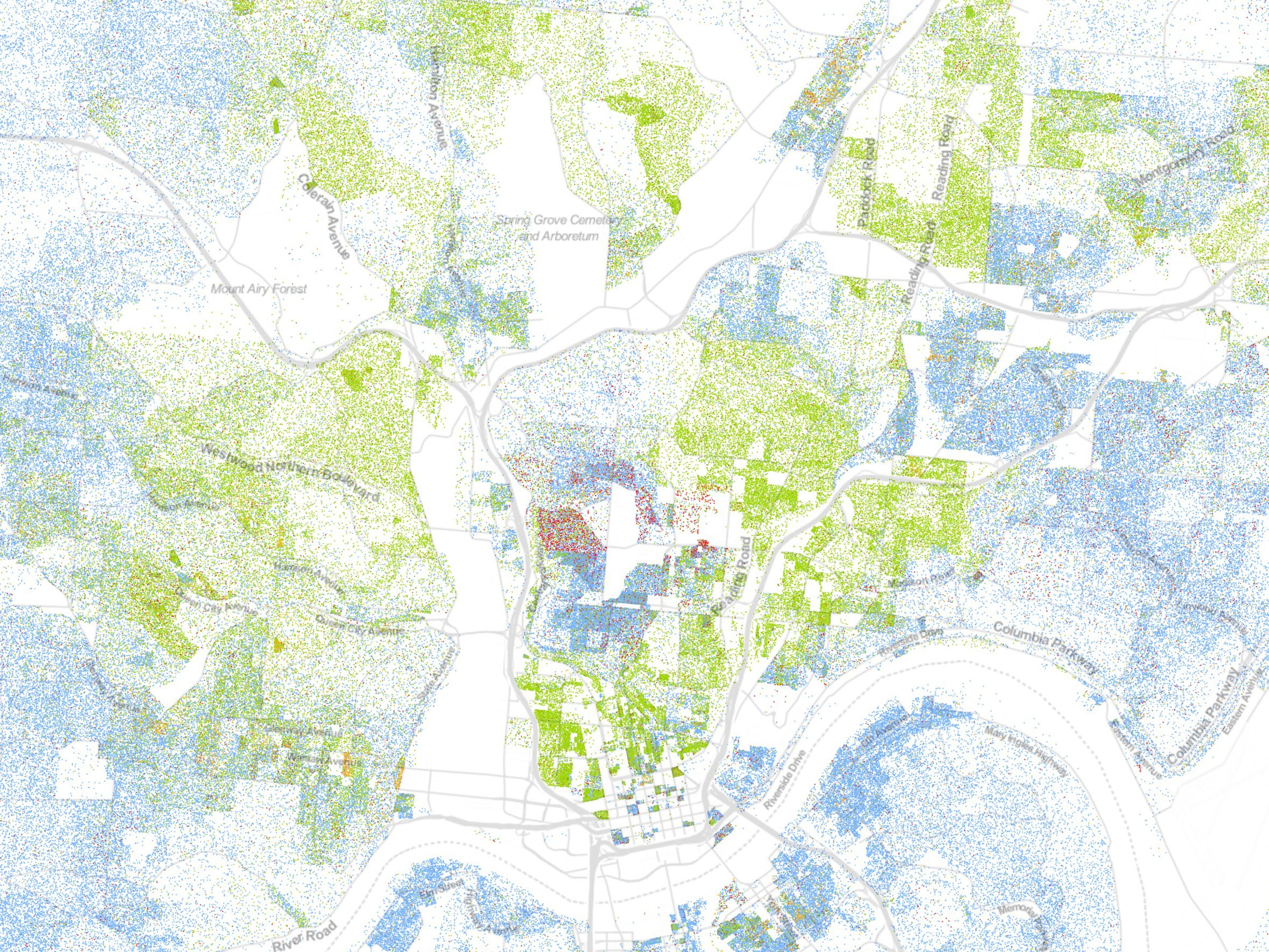 Map Shows Racial Diversity And Segregation In Cincinnati