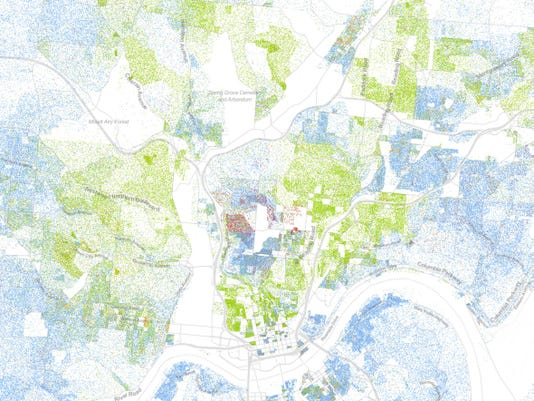 Map shows racial diversity and segregation in Cincinnati on cleveland city map, ohio msa map, cleveland topographic map, cleveland tx, cleveland land use map, cleveland racial map, king north carolina map, akron ward map, cleveland community map, cleveland georgia map, cleveland ohio ward map, cleveland historical map, cleveland county sheriff logo, cleveland school map, cleveland akron map, cleveland market map, cleveland crime map, missouri research park map, cleveland political map, cleveland state map,