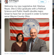 Twitter post from Rep. Scott Wiggam showing Marissa Reyes