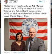 Twitter post from Rep. Scott Wiggam showing Marissa Reyes