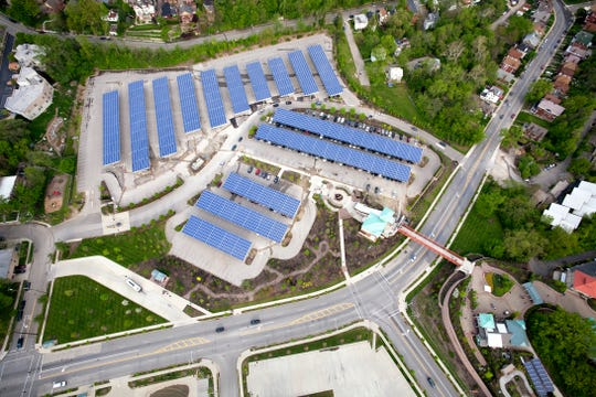 The Zoo's 1.6-megawatt solar array in its parking lot has greatly helped reduce energy consumption.