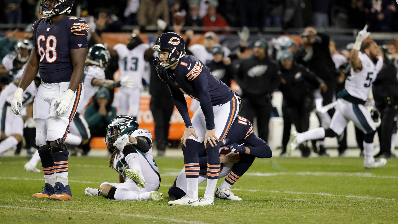 0f54e5ea396 NFC Wild Card: Nick Foles leads Philadelphia Eagles to 16-15 upset of  Chicago Bears