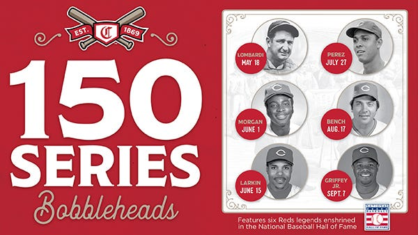 Reds' 150 Series Bobbleheads