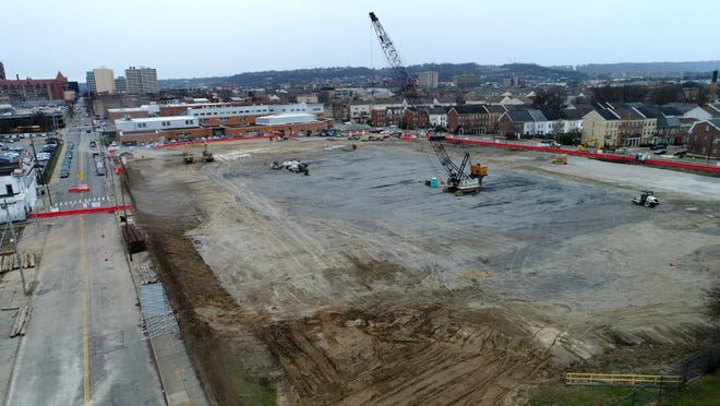The future site of FC Cincinnati's soccer-specific stadium in the West End neighborhood of Cincinnati on Monday, Jan. 7, 2019. (Sam Greene & Albert Cesare/The Enquirer)