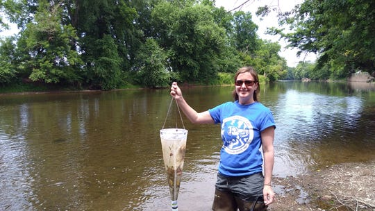 Raritan Headwaters Association recently released a study that shows the presence of microplastics in the South Branch of the Raritan River, especially downstream of three wastewater treatment plants. Kristi MacDonald, the Bedminster-based watchdog group's science director and the study's author, is pictured collecting samples in the South Branch.