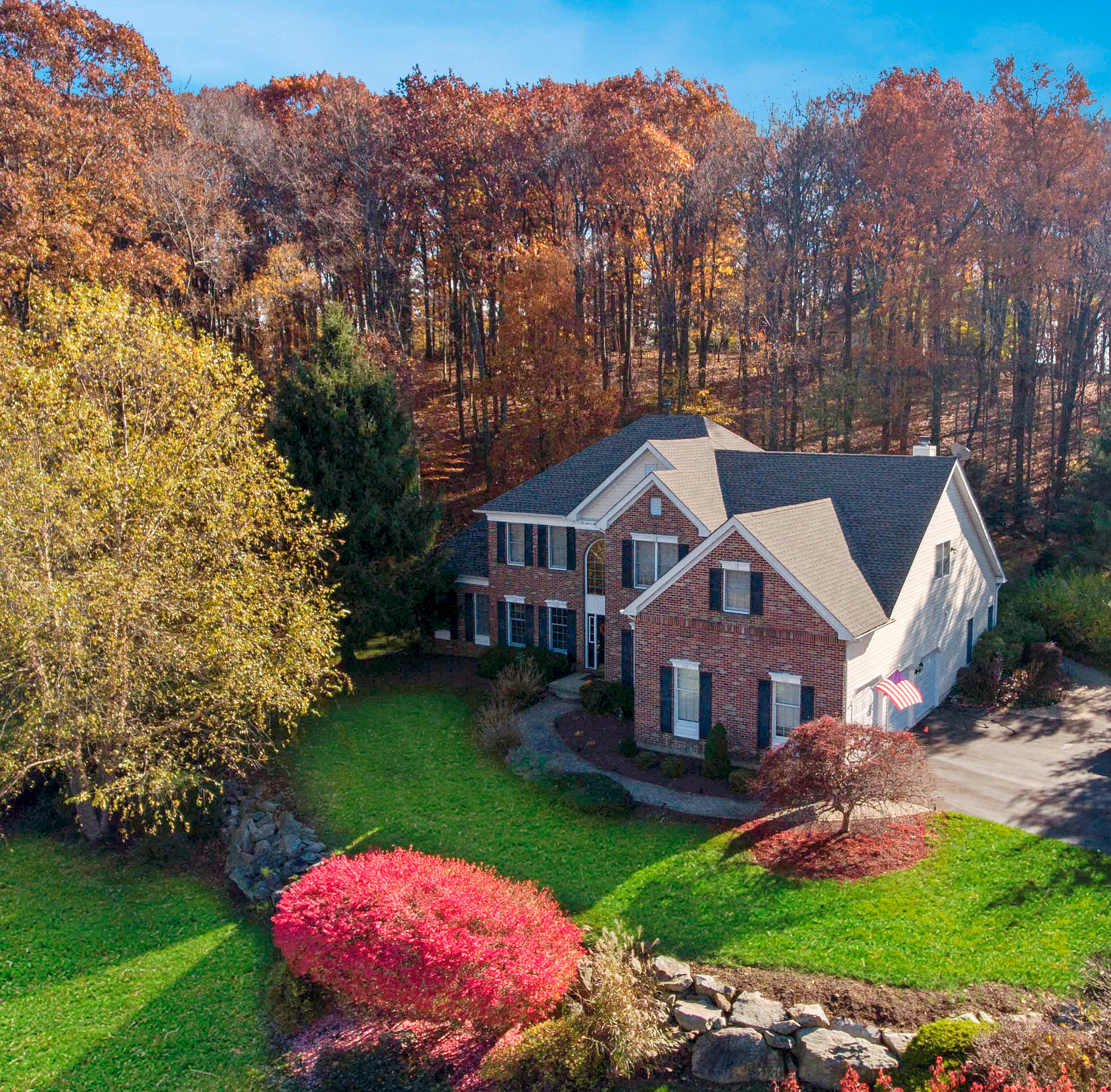 Brick front Colonial in The Woods at Fox Farm in Bethlehem for sale