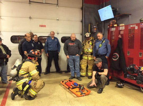 East Franklin Fire Department received the FAST (Firefighter Assistance Search Team) Board through a program where FAST Rescue Solutions reaches out to departments that have lost members to basement fires