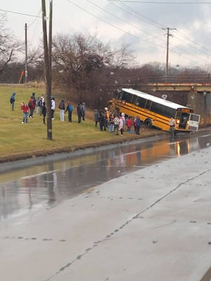 A Des Moines school bus crashed after the driver had a medical emergency, according to Des Moines police.