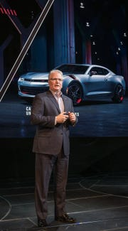 Chevrolet U.S. Vice President Brian Sweeney at the Chicago Auto Show in 2017.