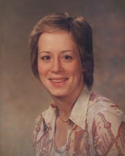 A photo of Leslie Pluhar who died when her small car was blown off the Mackinac Bridge in 1989.