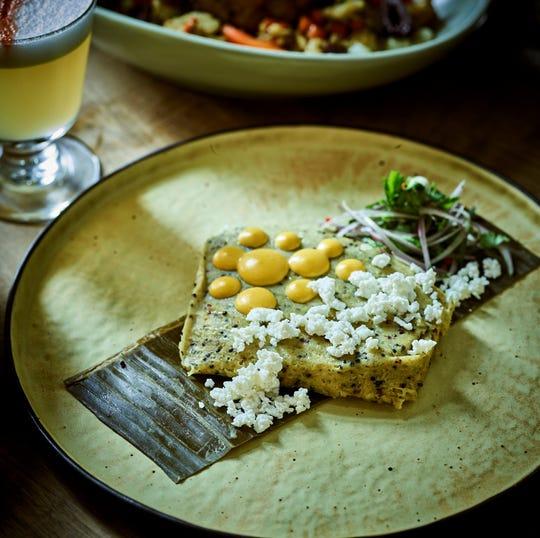 A quinoa tamale from Latido at Joebar.