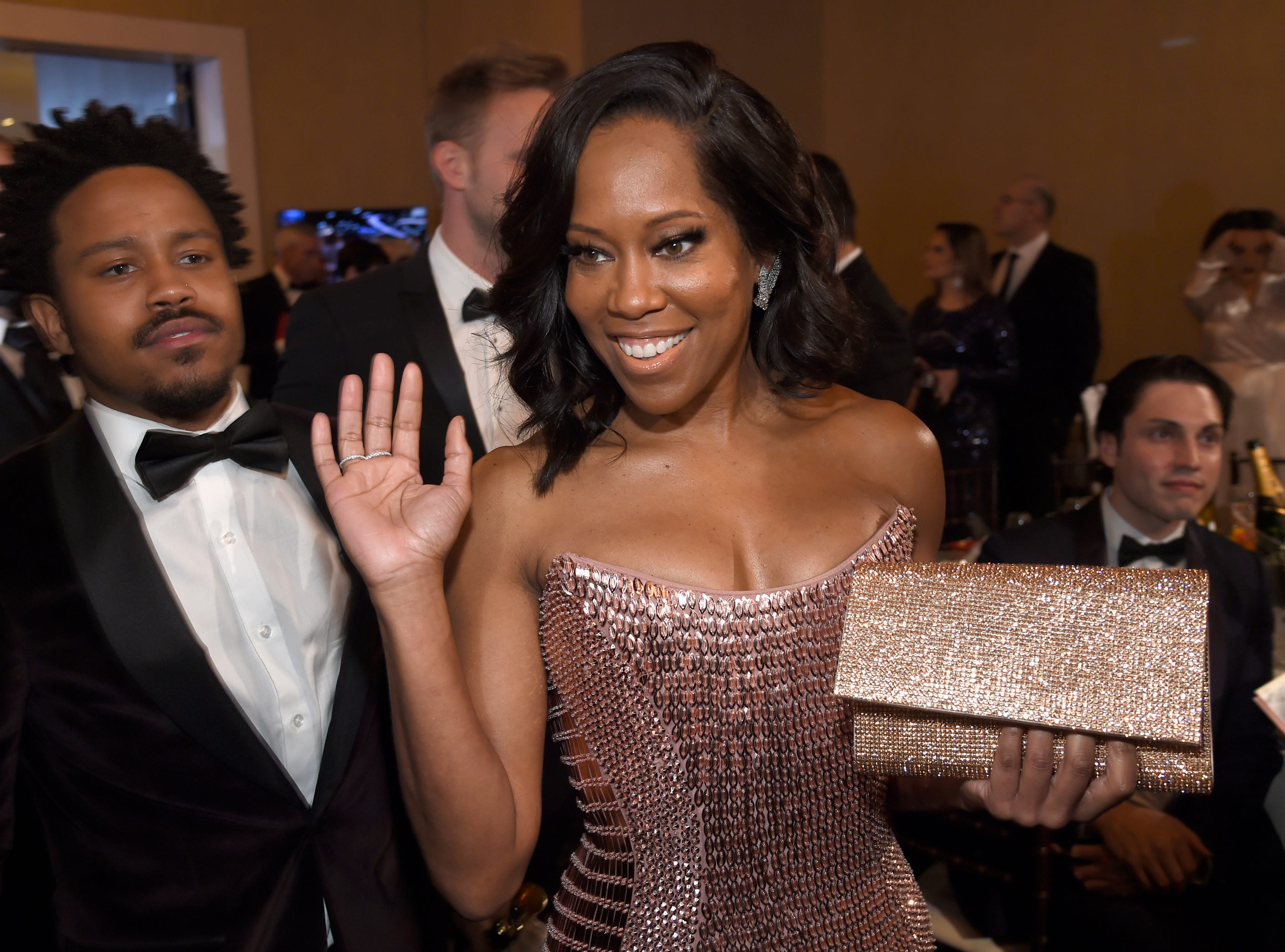 Regina King attends the 76th annual Golden Globe Awards at the Beverly Hilton Hotel.