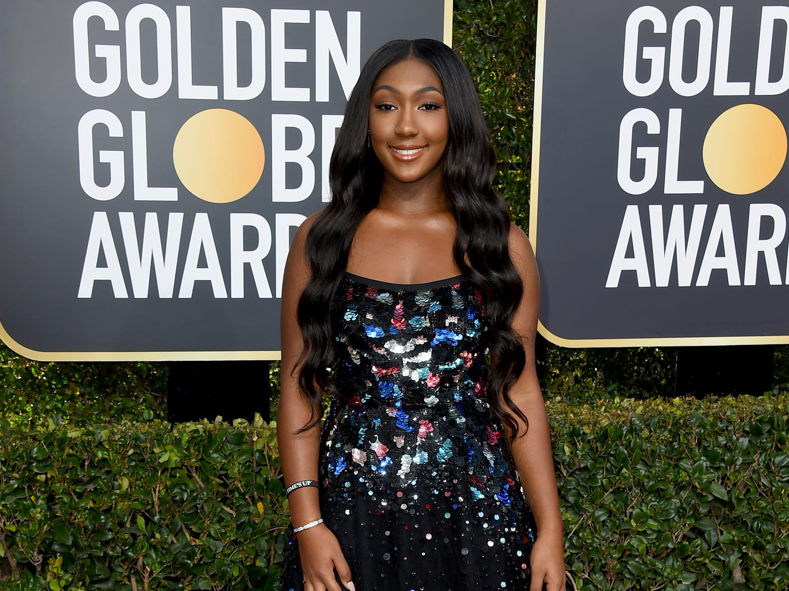 Isan Elba arrives at the 76th annual Golden Globe Awards at the Beverly Hilton Hotel on Sunday, Jan. 6, 2019, in Beverly Hills, Calif.