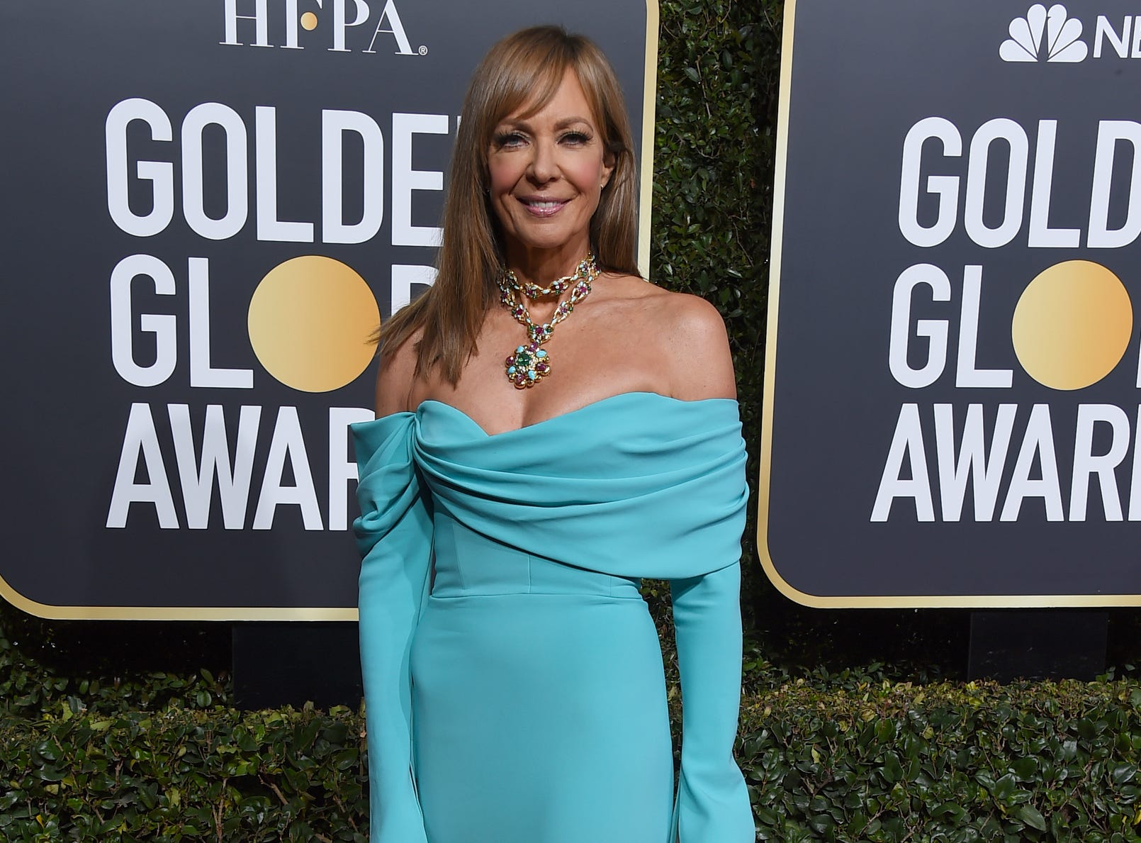 Allison Janney arrives at the 76th annual Golden Globe Awards at the Beverly Hilton Hotel.