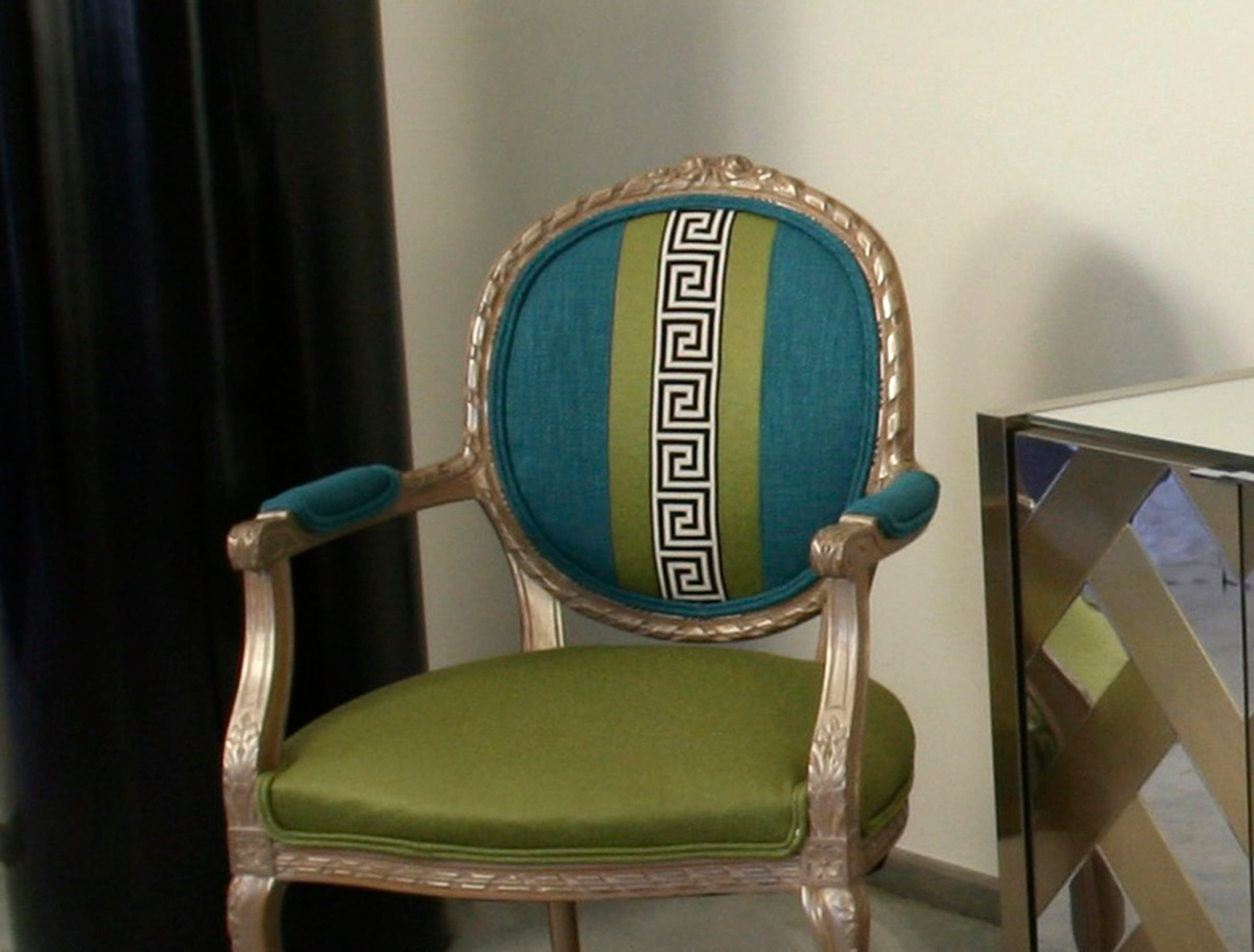 For around $500, a vintage chair can be reinvented with some new upholstery.