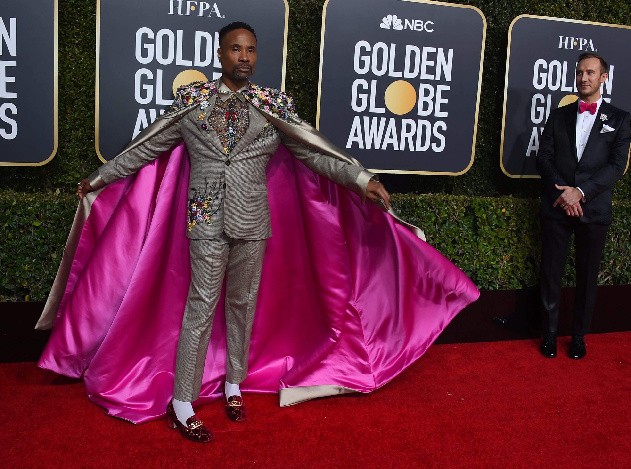 Billy Porter arrives at the 76th annual Golden Globe Awards at the Beverly Hilton Hotel.