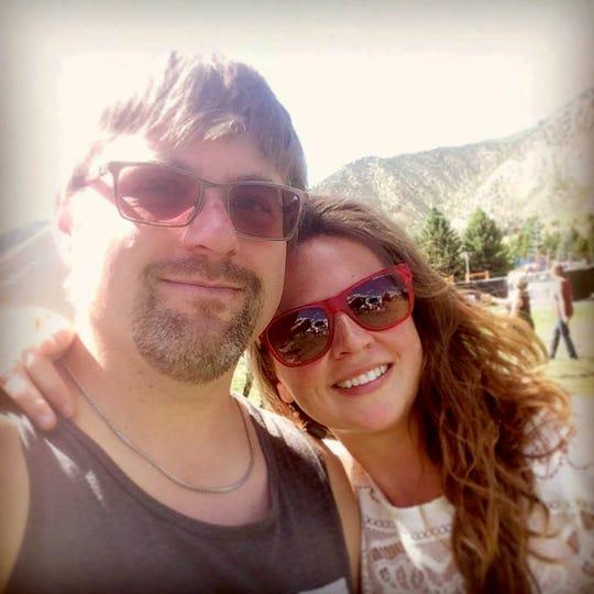 Jessica Moser with husband Greg.
