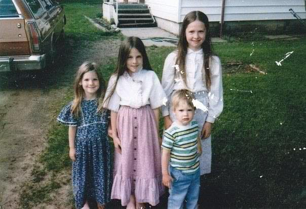 A family photo shows the Michelsen family as children growing up in the Church at Carson City.